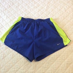 Nike dri-fit running shorts with liner Large